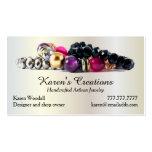 Elegant Jewelry or Jewellery Designer Maker Business Card