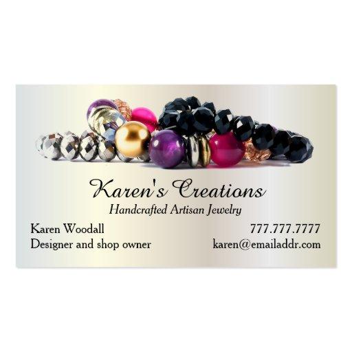 Elegant jewelry or jewellery designer maker business card for Jewelry business card