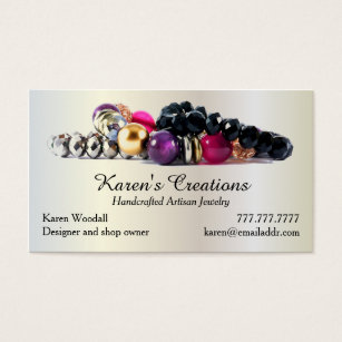 Jewelry designer business cards templates zazzle elegant jewelry or jewellery designer maker business card wajeb