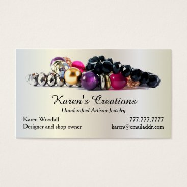 daisyprint Elegant Jewelry or Jewellery Designer Maker Business Card
