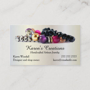 Jewelry business cards zazzle elegant jewelry or jewellery designer maker business card colourmoves