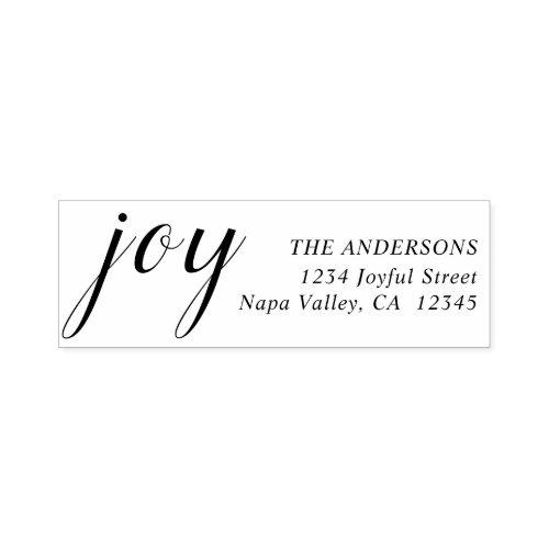 Elegant Joy Return Address Self_inking Stamp