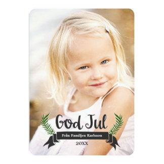 Elegant Jul Fotokort Card