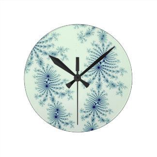 Elegant Julia Fractal Abstract Art Wall Clock