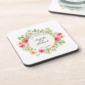 Elegant Just Married Floral Wedding | Coaster