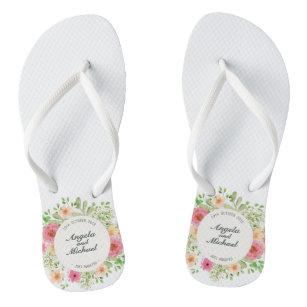 b822ed733 Elegant Just Married Wedding Flip Flops