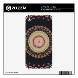 Elegant Kaleidoscope Canvas Pattern iPhone 4 Skin
