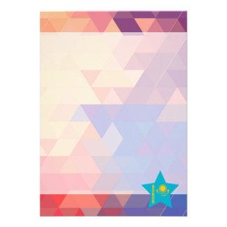 "Elegant Kazakhstan flag heart 5"" X 7"" Invitation Card"