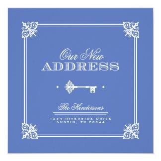 "Elegant Key Moving Announcement 5.25"" Square Invitation Card"