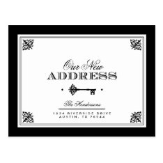 Elegant Key Moving Announcement Postcard at Zazzle