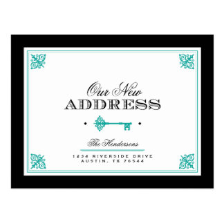 Elegant Key Moving Announcement Post Card
