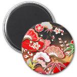 Elegant Kimono - Japanese Design 2 Inch Round Magnet