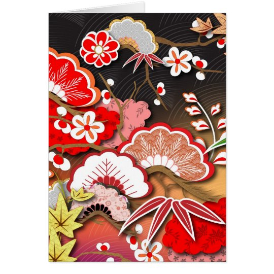 Elegant Kimono - Japanese Design Card