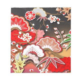 Elegant Kimono - Japanese Design Memo Notepads