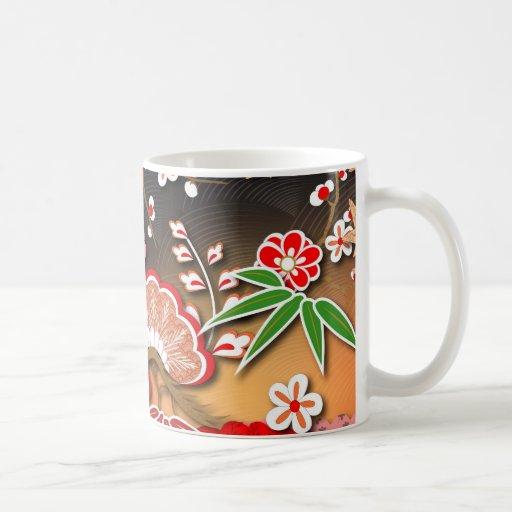 Elegant Kimono - Japanese Design Classic White Coffee Mug