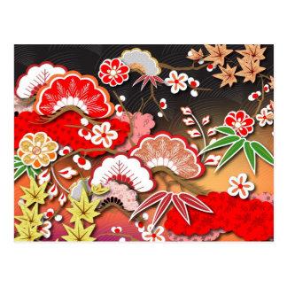 Elegant Kimono - Japanese Design Postcards