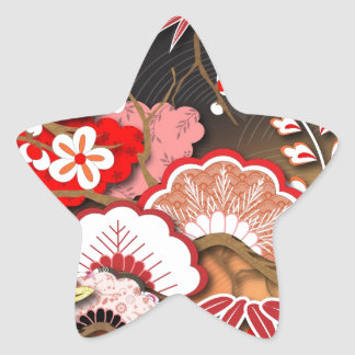 Elegant Kimono - Japanese Design Star Sticker