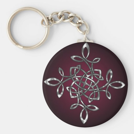 elegant knot color basic round button keychain