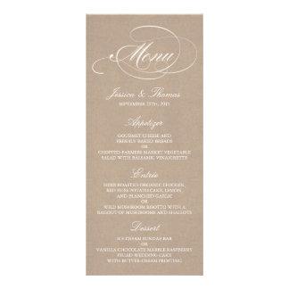 Elegant Kraft Wedding Menu Templates
