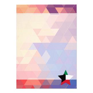 "Elegant Kuwait flag heart 5"" X 7"" Invitation Card"
