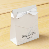 Elegant L Monogram Wedding Favor Boxes