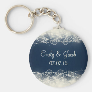 Elegant Lace and Pearls Wedding Favor Basic Round Button Keychain