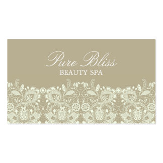 Elegant Lace Brown Business Card