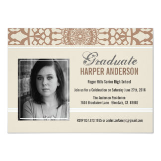 Elegant Lace Graduation Annouoncement Invite