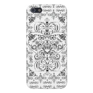 Elegant Lace Heart Pattern iPhone 5 Case