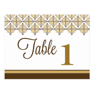 Elegant Lace Reception Table Number Placecards Postcard