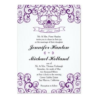 Elegant Lace Skull Calavera Invitation Card