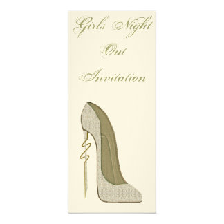 Elegant Lace Stiletto Shoe Art Invitation 10 Cm X 24 Cm Invitation Card