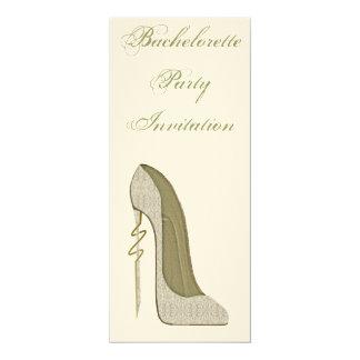 Elegant Lace Stiletto Shoe Bachelorette Invitation 10 Cm X 24 Cm Invitation Card