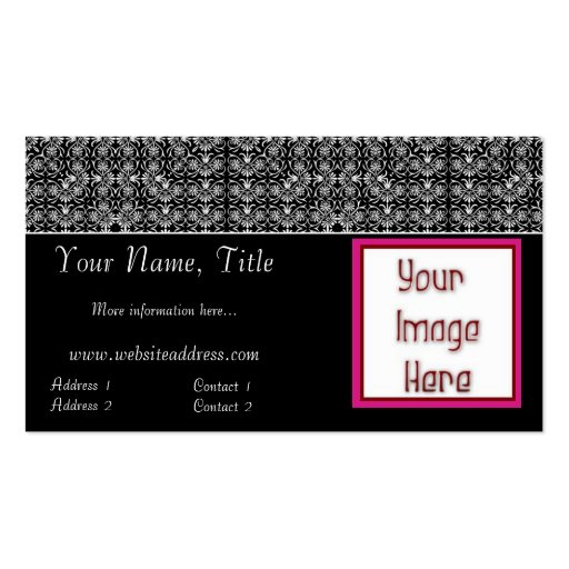 Elegant Lace Topper Add Your Photo Business Cards