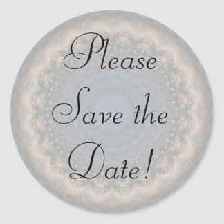 Elegant Lacey Save the Date Invitation Sticker