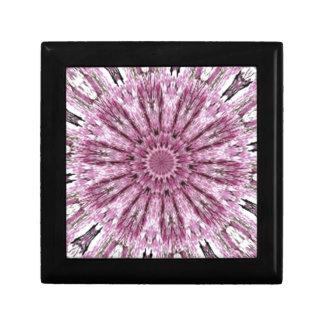 Elegant Lacy Pink Kaleidoscope Trinket Boxes