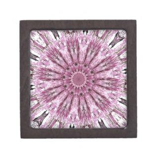 Elegant Lacy Pink Kaleidoscope Premium Trinket Box
