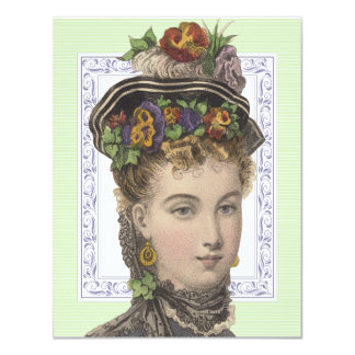 Elegant Ladies' Gardening Circle Vintage 4.25x5.5 Paper Invitation Card