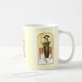 Elegant lady 1928 coffee mug