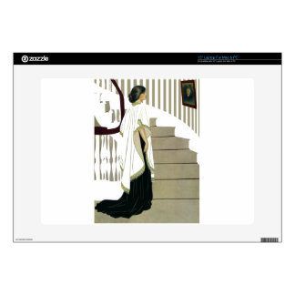 "Elegant Lady Ascends the Staircase 15"" Laptop Decal"