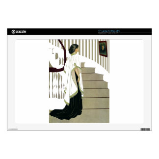 "Elegant Lady Ascends the Staircase 17"" Laptop Skins"