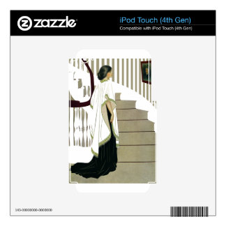 Elegant Lady Ascends the Staircase Decals For iPod Touch 4G