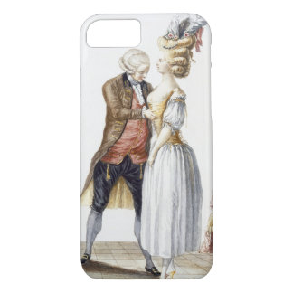 Elegant Lady at a Fitting with her Tailor, plate f iPhone 7 Case