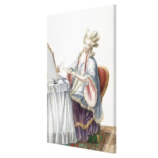 Elegant Lady at her Dressing Table, plate from 'Ga Canvas Print