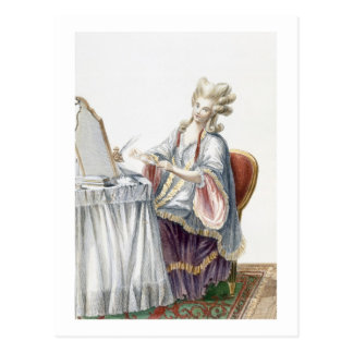 Elegant Lady at her Dressing Table, plate from 'Ga Post Card