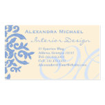 Elegant Lady Designer's Blue and Cream Business Cards