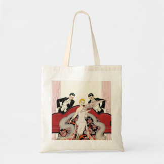 Elegant Lady in Paris Art Deco Tote Bag