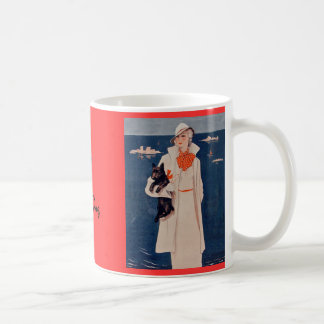 Elegant Lady Love My Scotty Dog Mug