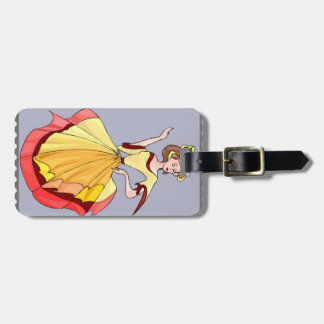 Elegant lady luggage tag