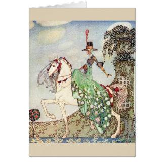 Elegant Lady on Horseback, Card
